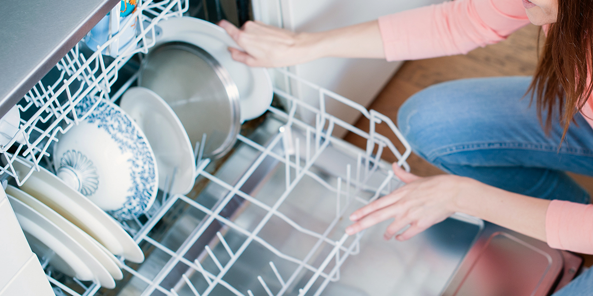 LOADING DISHWASHER