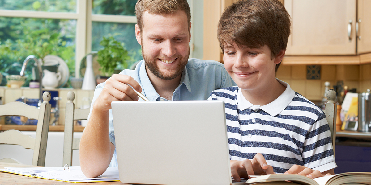 Tutor Helping Teenage Boy With Studies
