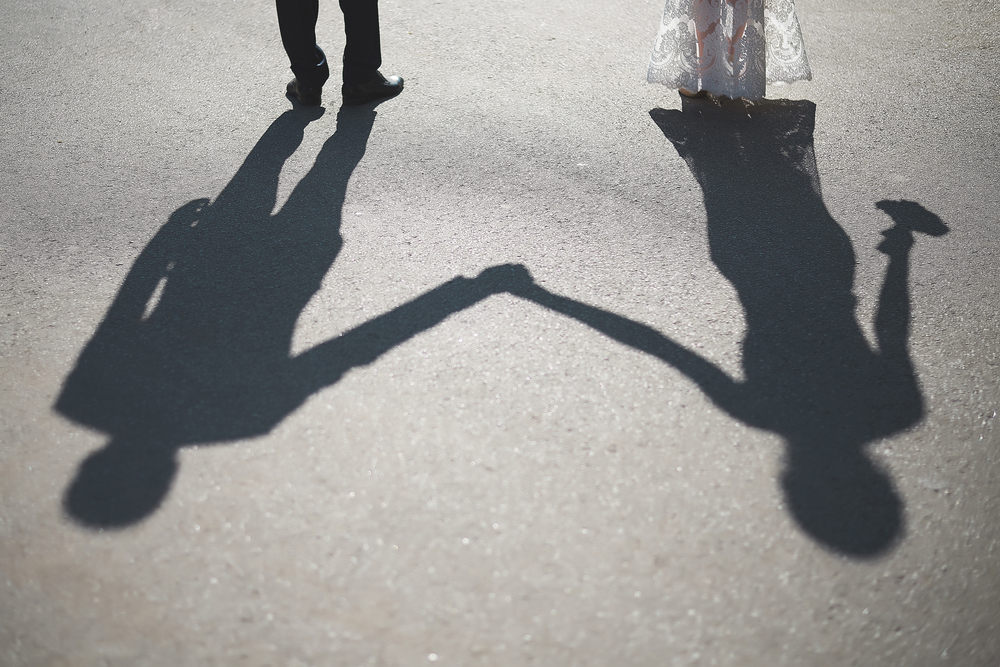 COUPLE, SHADOW, MARRIAGE