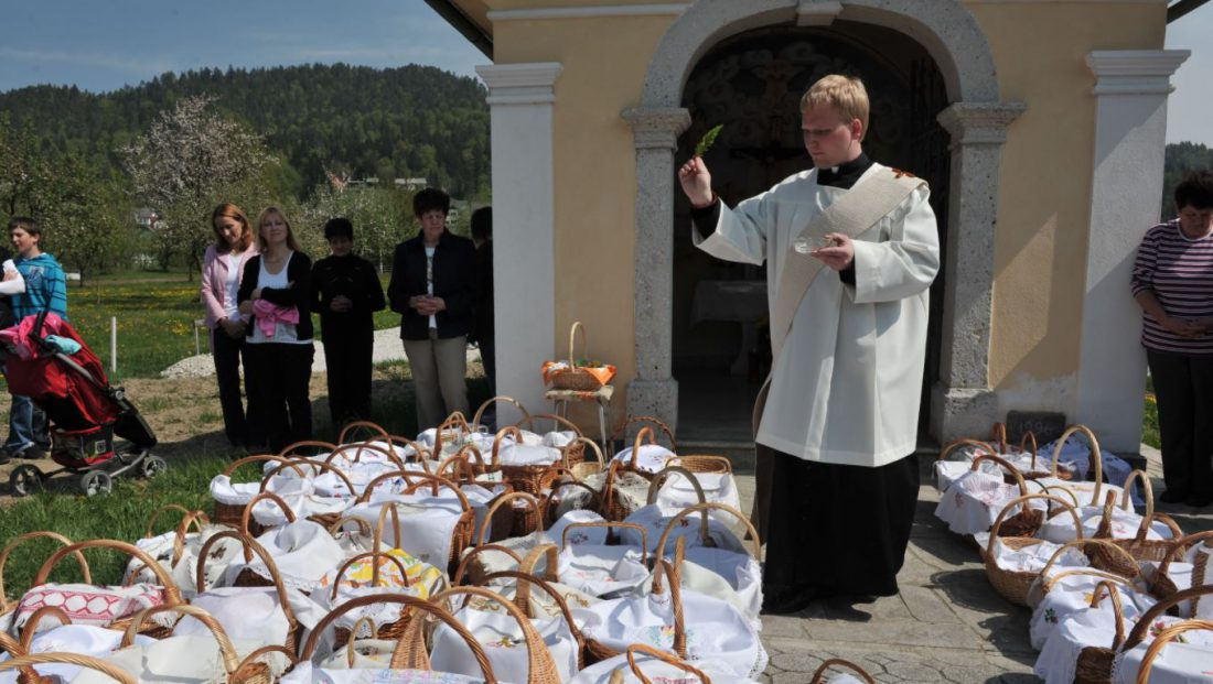 PRIEST BLESSING EASTER FOOD