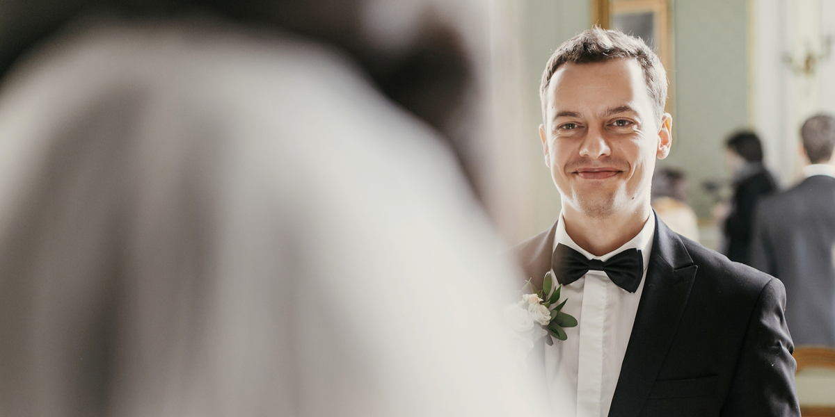 WEDDING, GROOM, SMILE